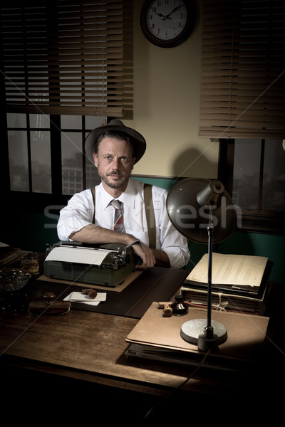 1950s reporter posing Stock photo © stokkete