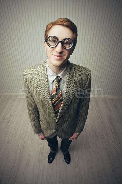 Nerdy businessman  Stock photo © stokkete