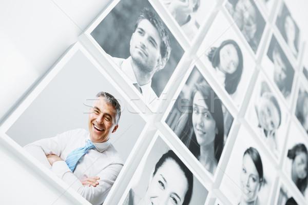 Photo stock: Souriant · personnes · portraits · groupe · de · gens · portrait · bonheur