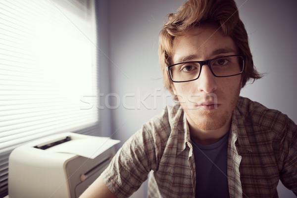 Staring at monitor Stock photo © stokkete
