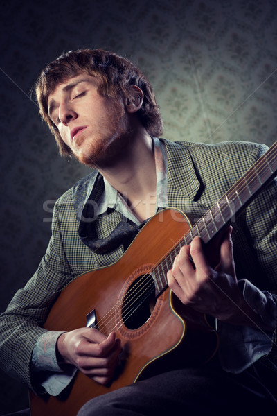 1960s style guitarist Stock photo © stokkete