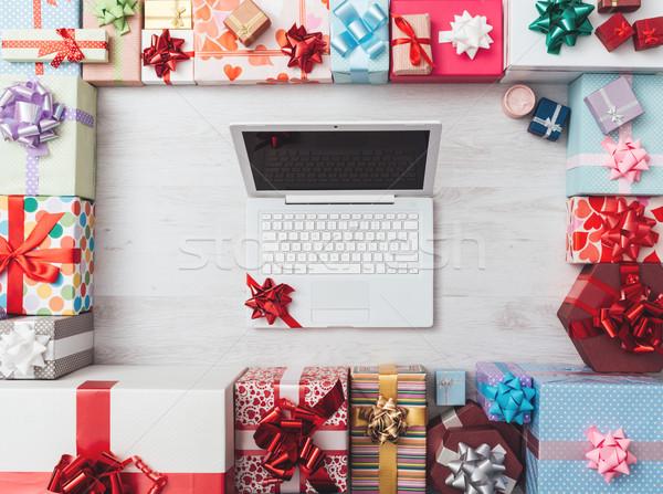 Beautiful Christmas gifts Stock photo © stokkete