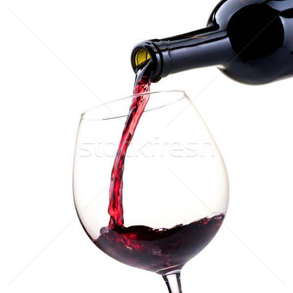 ストックフォト: 赤ワイン · ワイングラス · ボトル · ワイン試飲 · お祝い