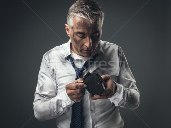 Сток-фото: безработный · бизнесмен · пусто · бумажник · грязный · корпоративного