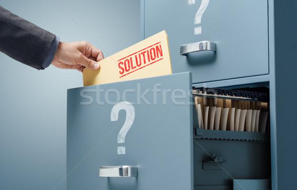 Affaires solution affaires fichier placard Photo stock © stokkete