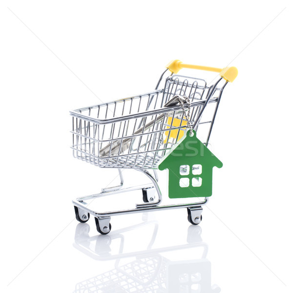 House keys in a shopping cart Stock photo © stokkete