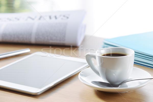 Stok fotoğraf: Kahve · kırmak · çalışmak · iş · ofis · sahne