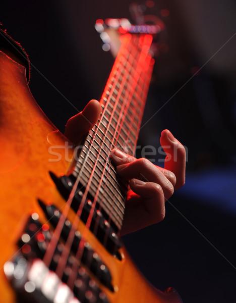 Guitarrista rocha guitarrista música jogar Foto stock © stokkete