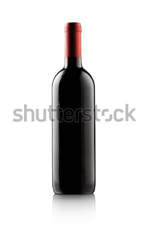 Rode wijn fles geïsoleerd witte exemplaar ruimte alcohol Stockfoto © stokkete