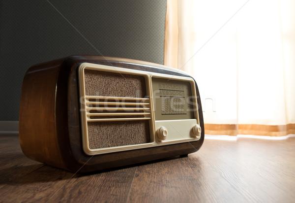Vintage radio next to the window Stock photo © stokkete