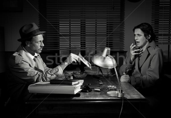 Stockfoto: Openbaring · knap · detective · tonen · foto
