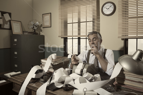 1950s accountant checking calculations Stock photo © stokkete