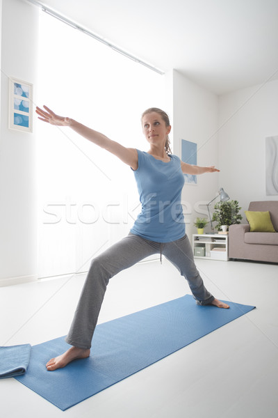 Stock photo: Yoga workout