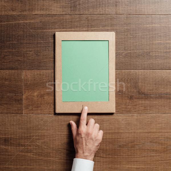 картона таблетка человека Creative ремесла Сток-фото © stokkete