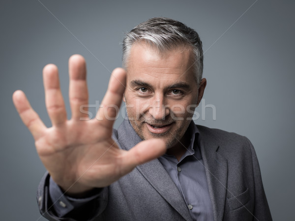 Stop gesture Stock photo © stokkete