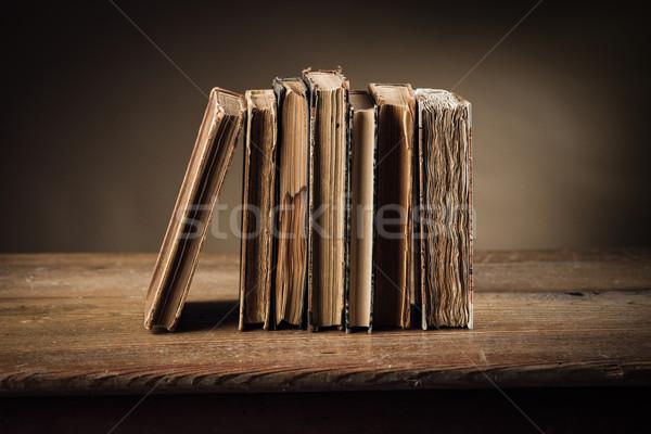 ストックフォト: 古代 · 図書 · 古い · 表 · 静物 · リテラシー