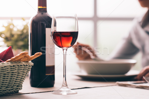 Wine tasting at the restaurant Stock photo © stokkete