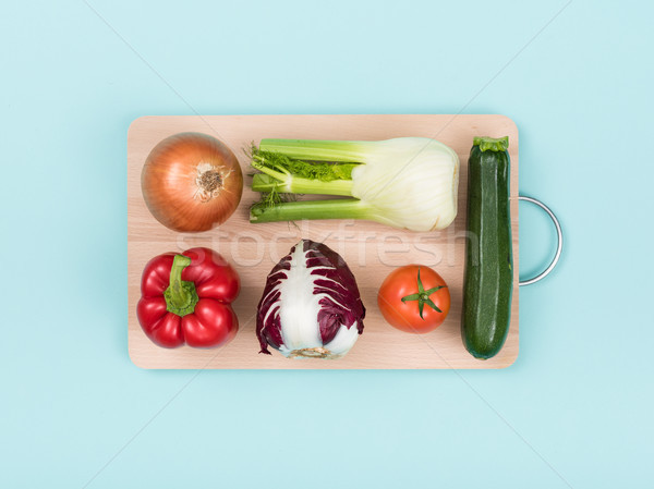 Fresh vegetables on a wooden chopping board Stock photo © stokkete