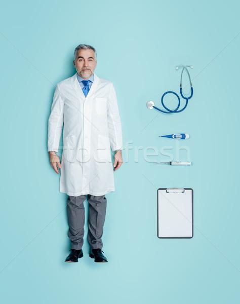 Realista masculino boneca médico médico do sexo masculino humanismo Foto stock © stokkete