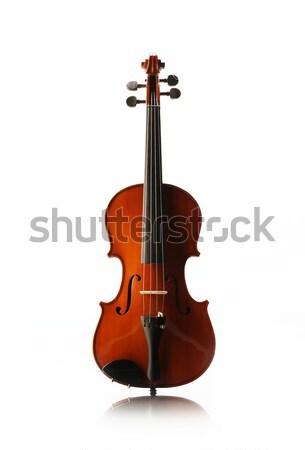 Hegedű elöl kilátás lövés zene piros Stock fotó © stokkete