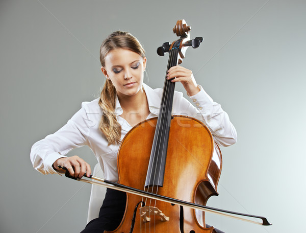 Beautiful cellist Stock photo © stokkete