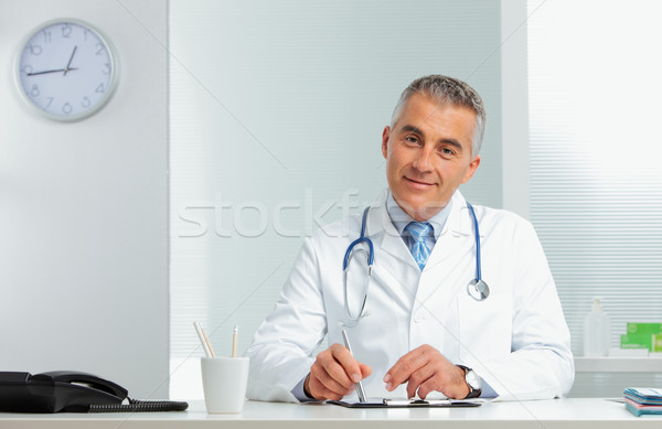 Portrait of a handsome doctor Stock photo © stokkete