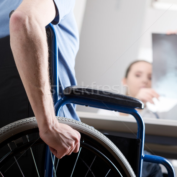 Disabled man at doctors office Stock photo © stokkete