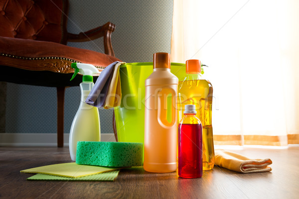 Household wood cleaners Stock photo © stokkete