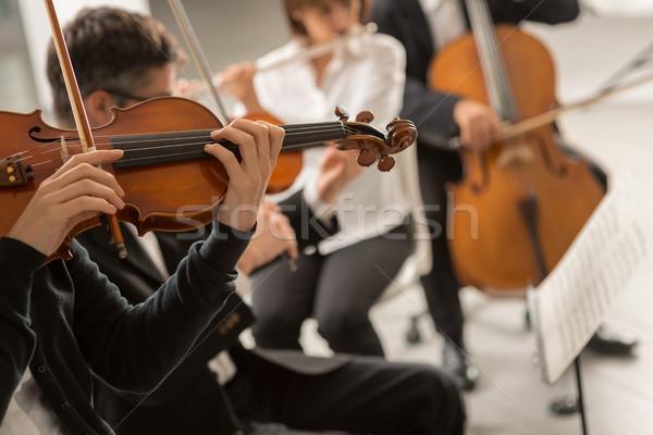 Klasik müzik senfoni orkestra performans sahne Stok fotoğraf © stokkete