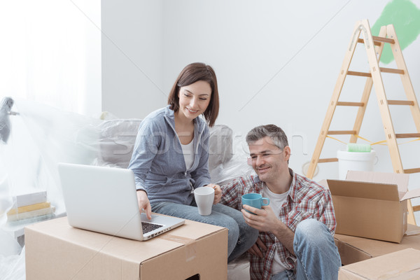 Couple moving in together Stock photo © stokkete