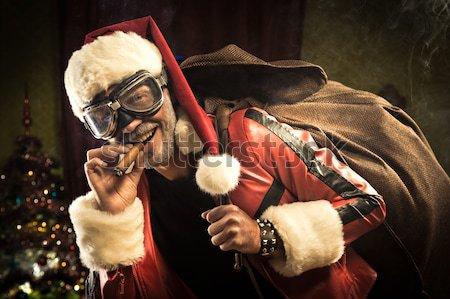 Bad Santa smoking a joint Stock photo © stokkete