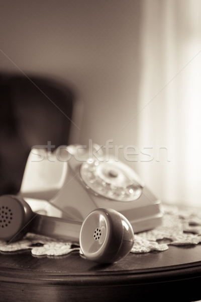Handset on hold Stock photo © stokkete