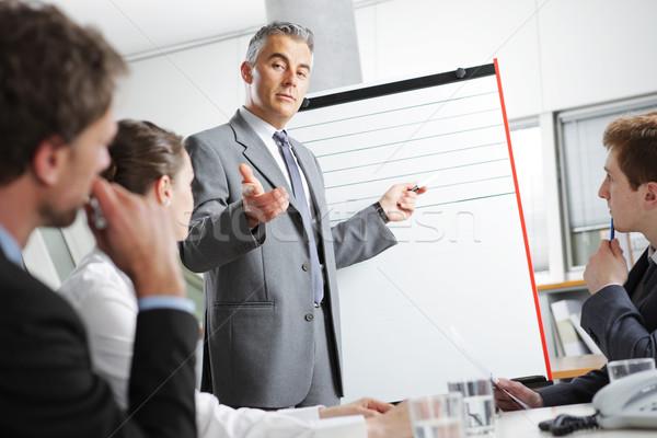 Affaires présentation maturité affaires communication discussion Photo stock © stokkete