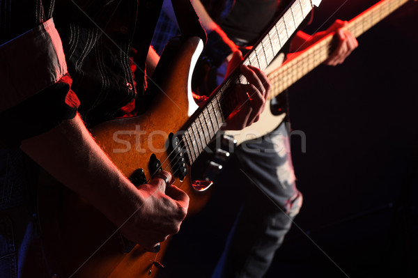 Kő zenészek játszik élet koncert zene Stock fotó © stokkete