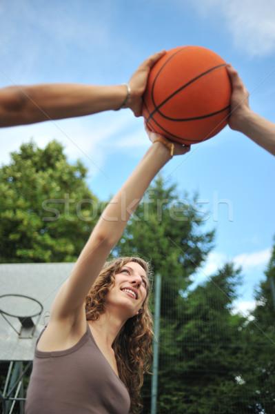 友情 スポーツ 3  青少年 バスケット ストックフォト © stokkete