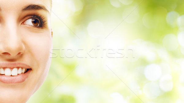 Young woman with glowing face skin Stock photo © stokkete