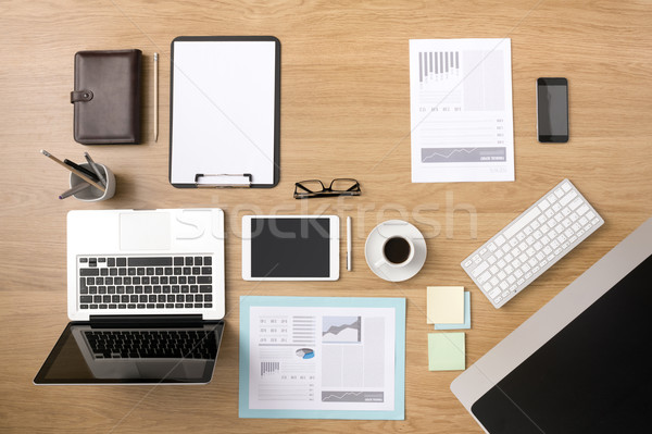 Businessman's tidy desktop Stock photo © stokkete