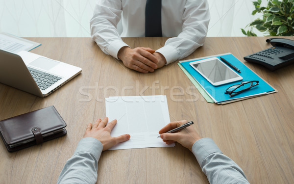 Contract agreement Stock photo © stokkete