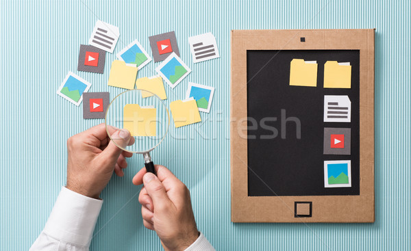 Files selection and management Stock photo © stokkete