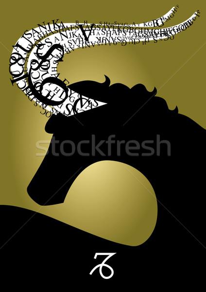 zodiac sign capricorn- Stock photo © stokkete