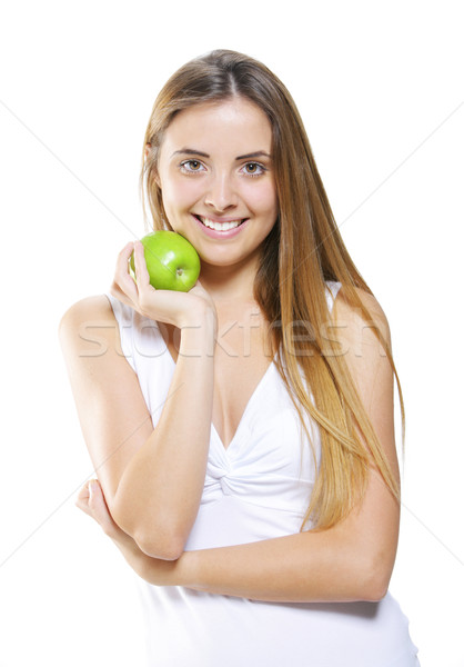 幸せ 健康 少女 笑みを浮かべて 若い女性 ストックフォト © stokkete