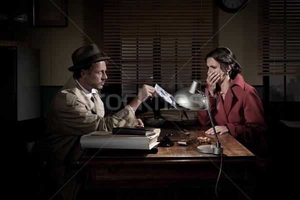 Vahiy yakışıklı dedektif resim Stok fotoğraf © stokkete