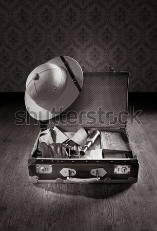 Detective's vintage briefcase Stock photo © stokkete