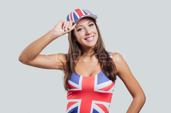 Britannique fille souriant caméra regarder Photo stock © stokkete