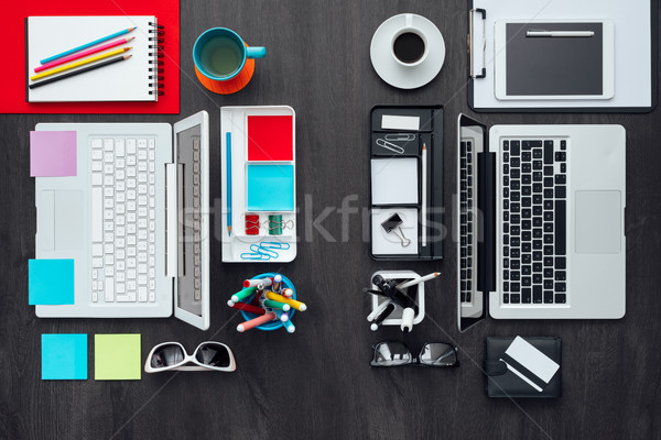 Customized office workspace Stock photo © stokkete
