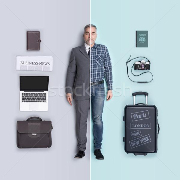 Masculino bonecas comparação negócio executivo viajante Foto stock © stokkete