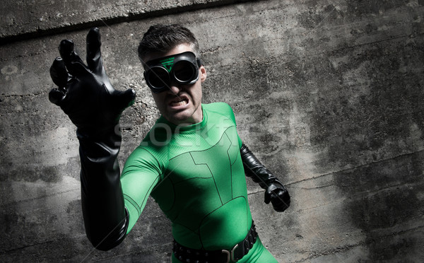 Agressief groene beton muur Stockfoto © stokkete