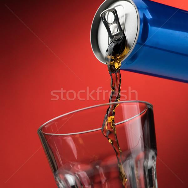 Frisdrank glas kan drinken Stockfoto © stokkete