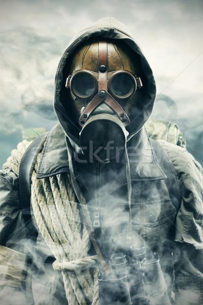 Verontreiniging milieu ramp post apocalyptische overlevende Stockfoto © stokkete