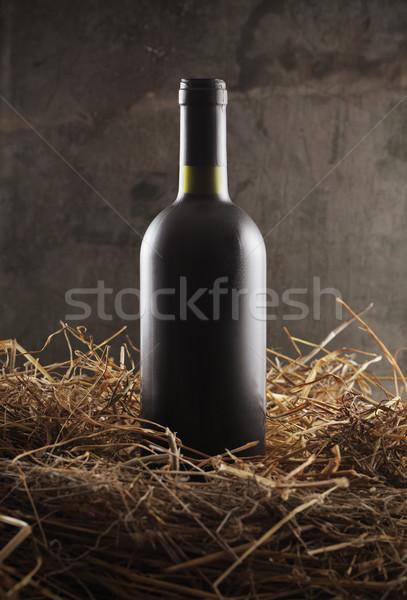 Stock photo: Red Wine bottle